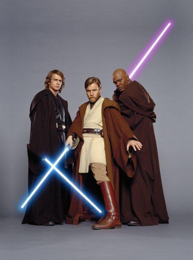 Samuel L. Jackson, Ewan McGregor and Hayden Christensen in Star Wars: Episode III - Revenge of the Sith