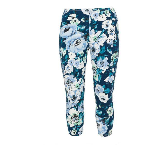 Rimini Petrol / Light-Blue Plus Size Printed leggings ($41) ❤ liked on Polyvore featuring pants, leggings, bottoms, plus size, petrol, legging pants, all over print leggings, elastic waist pants, plus size trousers and plus size pants