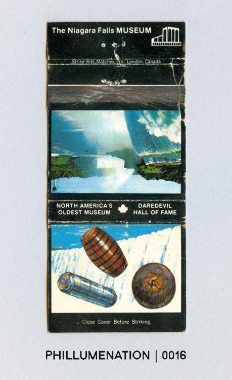 #Phillumenation 0016 : The Niagara Falls MUSEUM #1   North America's Oldest Museum   Daredevil Hall of Fame   Niagara Falls, Ontario, Canada