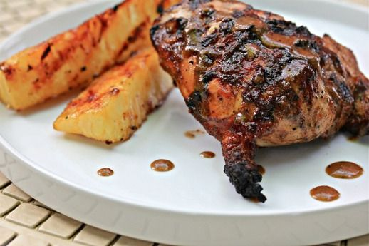 Hellfire Jerk Chicken With Rummy Grilled Pineapple. Click for recipe # ...