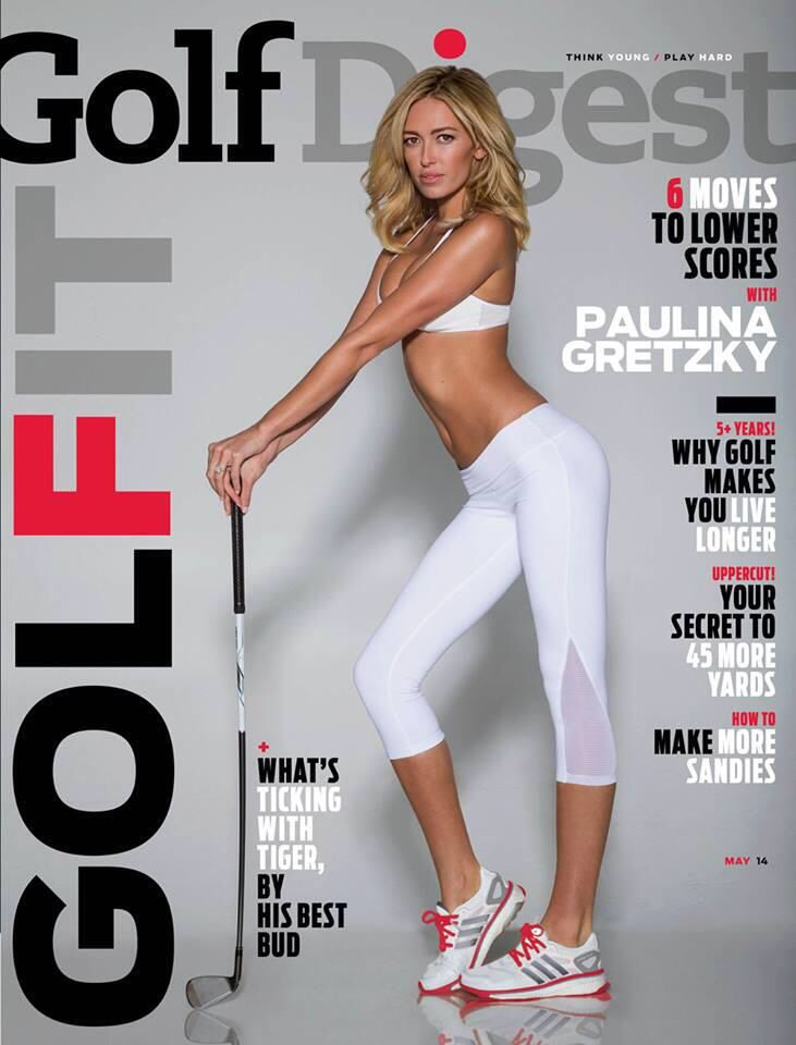 Golf Digest May 2014 - Paulina Gretzky