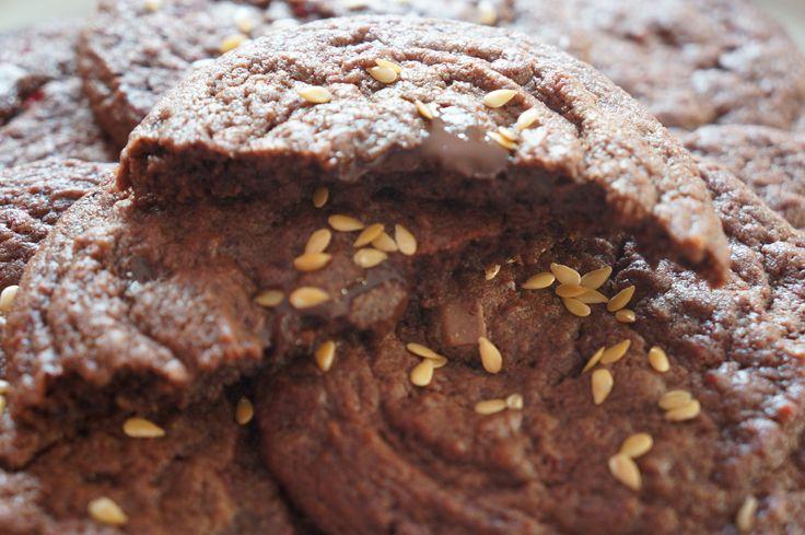 Golden Cookies Chocolat Betterave Lin doré
