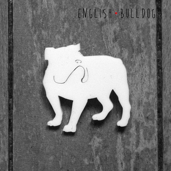 Spilla Bulldog Inglese per amanti dei cani in di DARQDESIGN