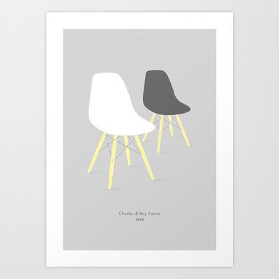 Eames x 2 #1 Art Print by bittersweat - $20.00