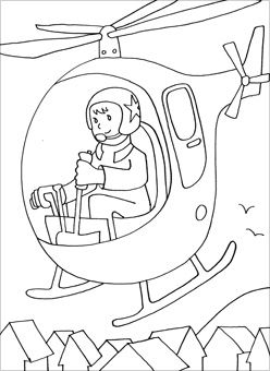 Coloring page - Helicopter