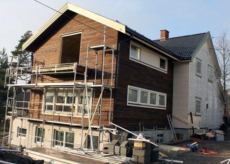 Bilderesultat for gamle hus med moderne tilbygg