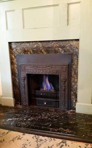 richmond gas coal basket with victorian torch surround