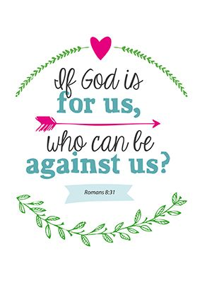 Enjoy poster - If God is for us -