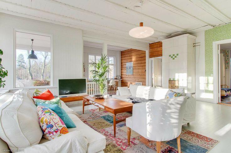 modern Scandinavian home with colour