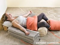 Meditation pose - if I ever get myself in that position, I'm never getting up.