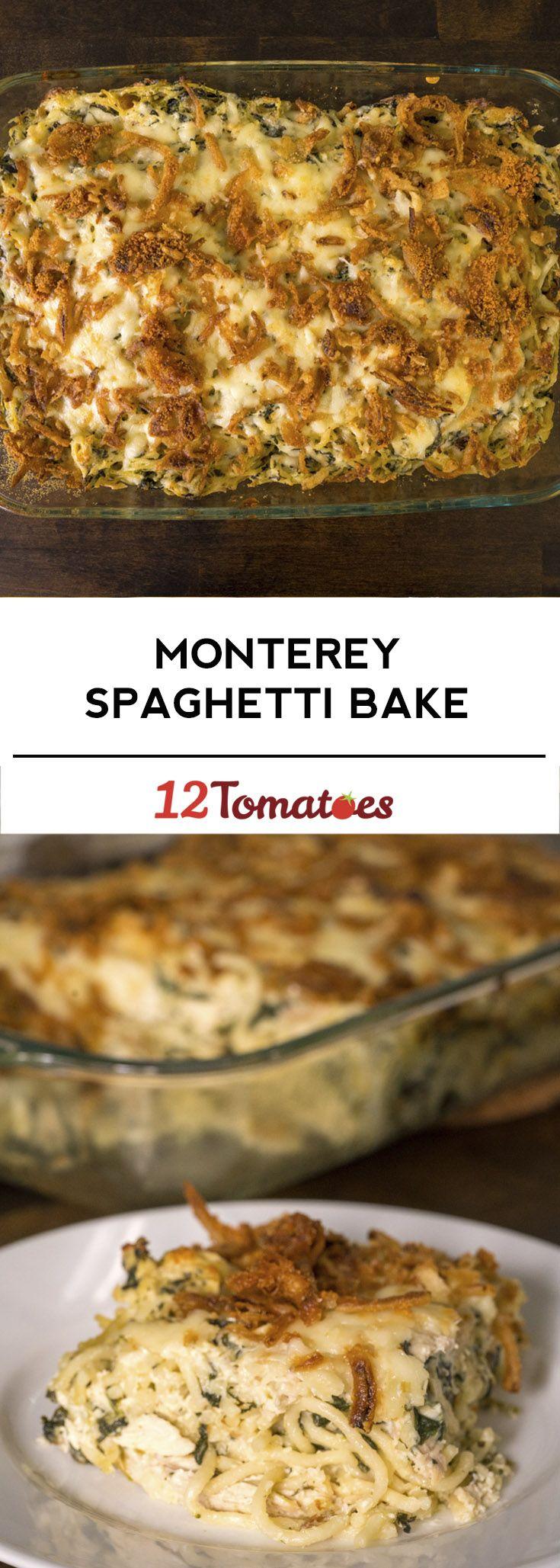 Monterey Chicken Spaghetti Bake