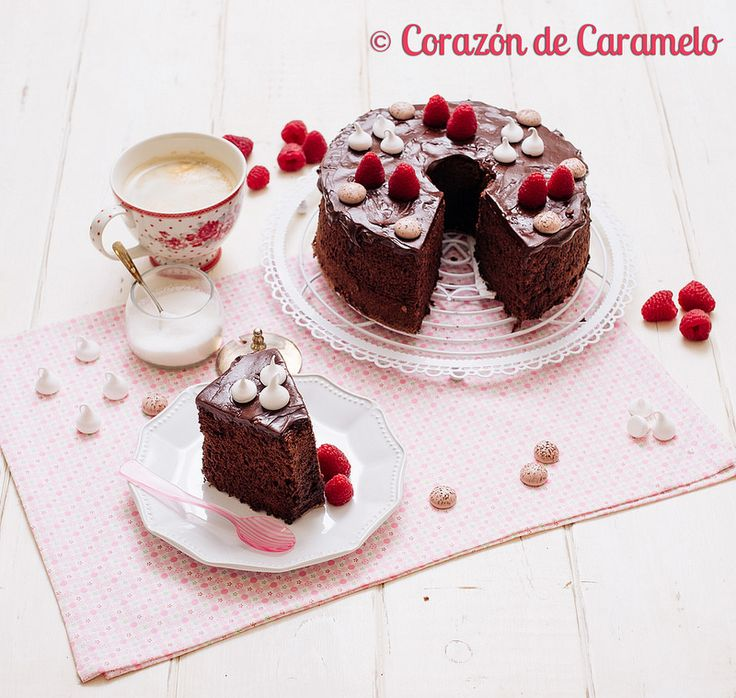 Angel Food Cake de Chocolate | Receta Americana