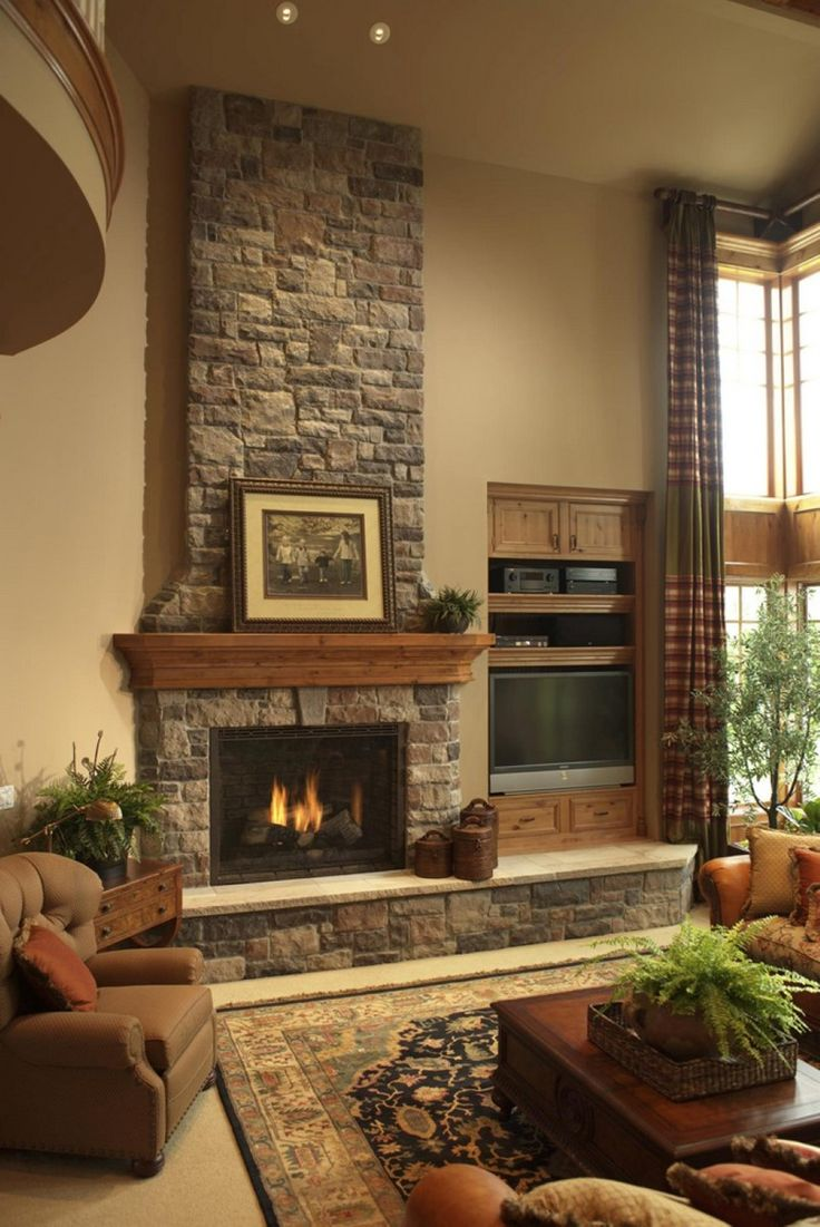 17 best ideas about grey stone fireplace on pinterest - Stone fireplace surround ideas ...