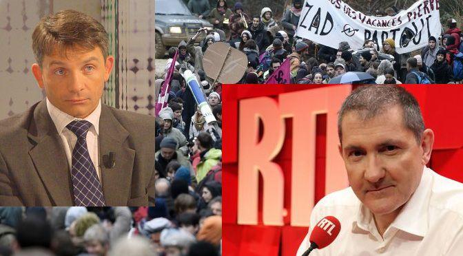 Le 8 décembre dernier, l'éditorialiste Yves Calvi interviewait sur RTL un certain Eric Dénécé sur les Zad1. Ce prétendu spécialiste du renseignement y a tenu des propos pour le moins étonnants, sans jamais être repris par le journaliste… Comme c'est fréquent...