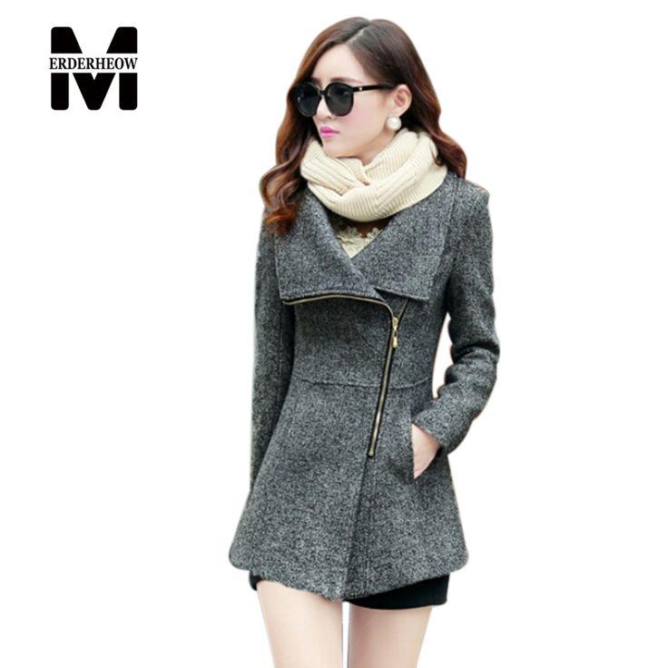 New Europe 2015 Autumn Winter Women's Temperament Woolen Jackets Coats Female Casual Clothing Fashion Women Slim Jackets Coats