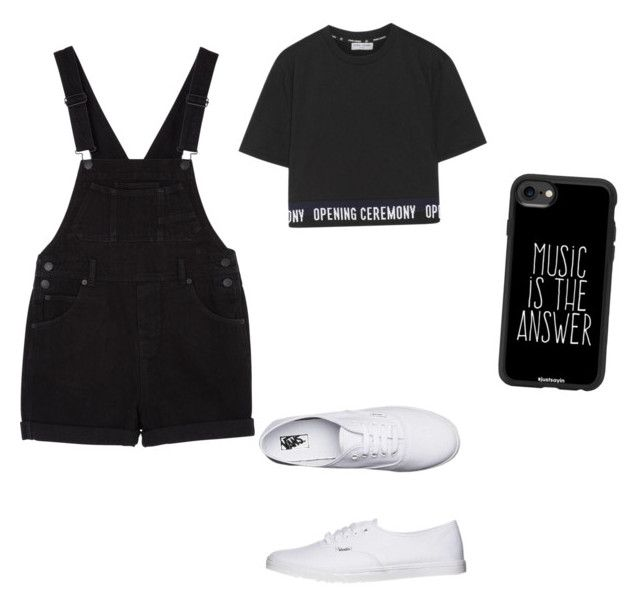 """""""Untitled #57"""" by anais-maria on Polyvore featuring Monki, Opening Ceremony, Casetify and Vans"""