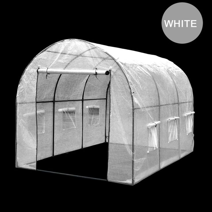Walk In Garden Greenhouse w/ PE Cover in White 2x3m | Buy Walk-In Greenhouses