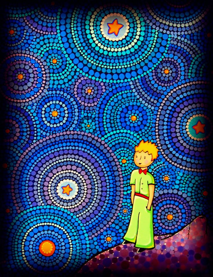 The Cosmic Little Prince Postcard