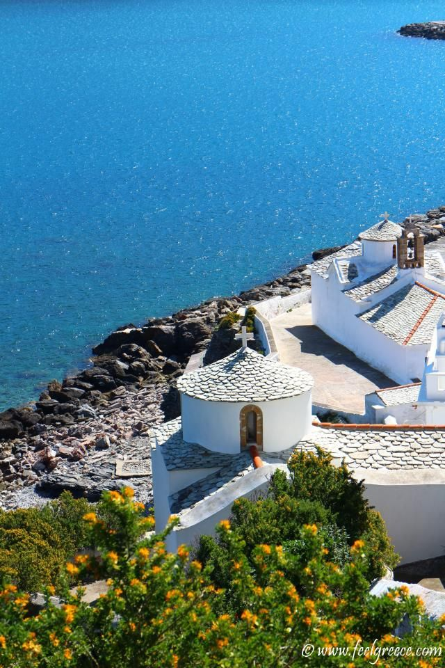 The most famous church of Skopelos; photo from Skopelos Town, Skopelos