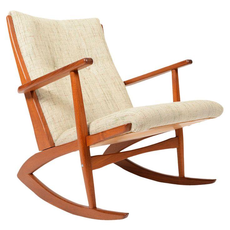 Søren Georg Jensen Teak Rocking Chair