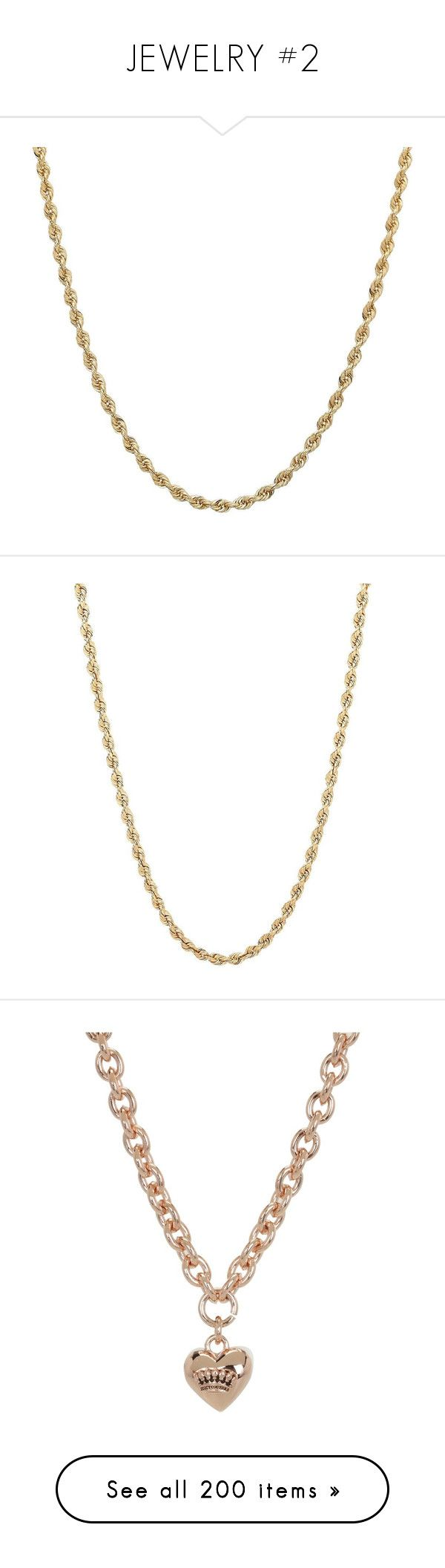 """""""JEWELRY #2"""" by theonlydej ❤ liked on Polyvore featuring jewelry, necklaces, gold, lobster clasp necklace, gold chain necklace, gold diamond necklace, yellow gold diamond necklace, diamond necklace, yellow gold necklace and gold rope chain necklace"""