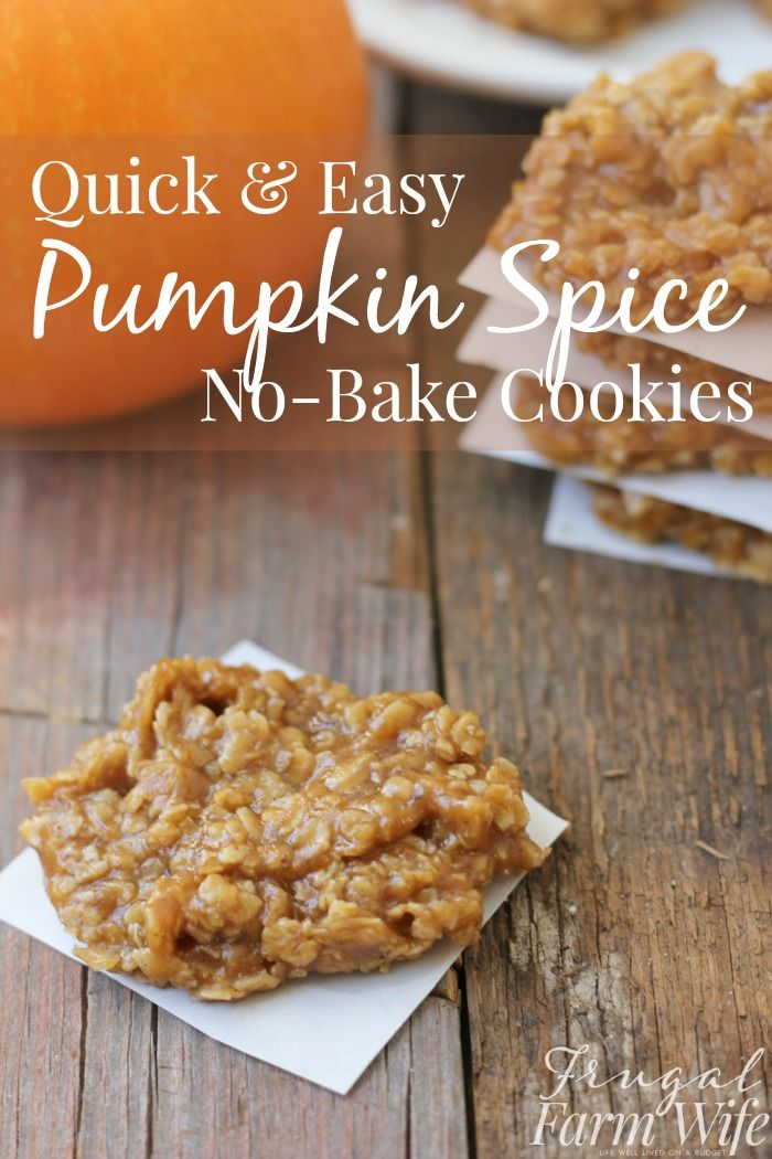 These quick, easy pumpkin spice no-bake cookies taste exactly like fall SHOULD taste!