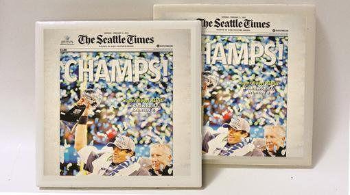 Seattle Seahawks Super Bowl Champion Set of 2 Ceramic Tile