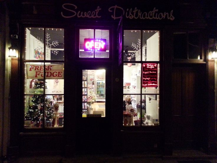 Sweet Distractions at Night, Elora Ontario fun variety of sweets for everyone!