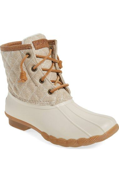 Sperry 'Saltwater - Quilted' Duck Boot (Women) - $40 off Black Brown and Tan #nsale #nordstrom #fallfashion
