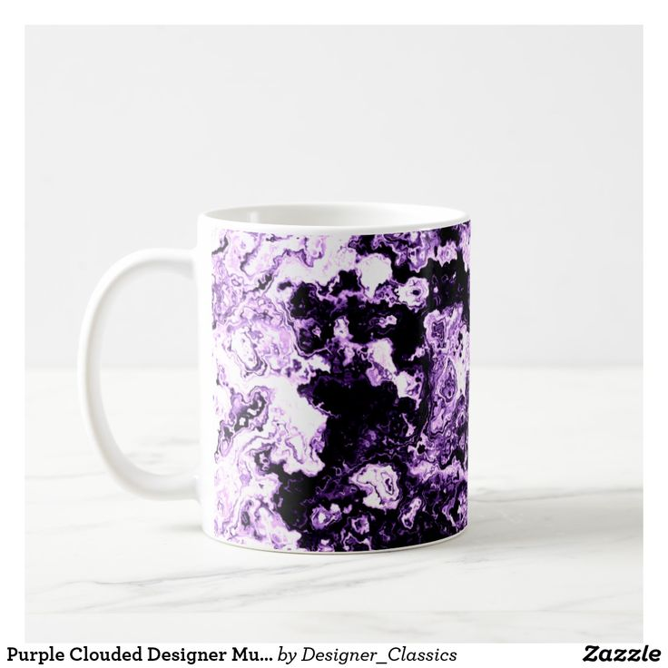 Purple Clouded Designer Mug 5