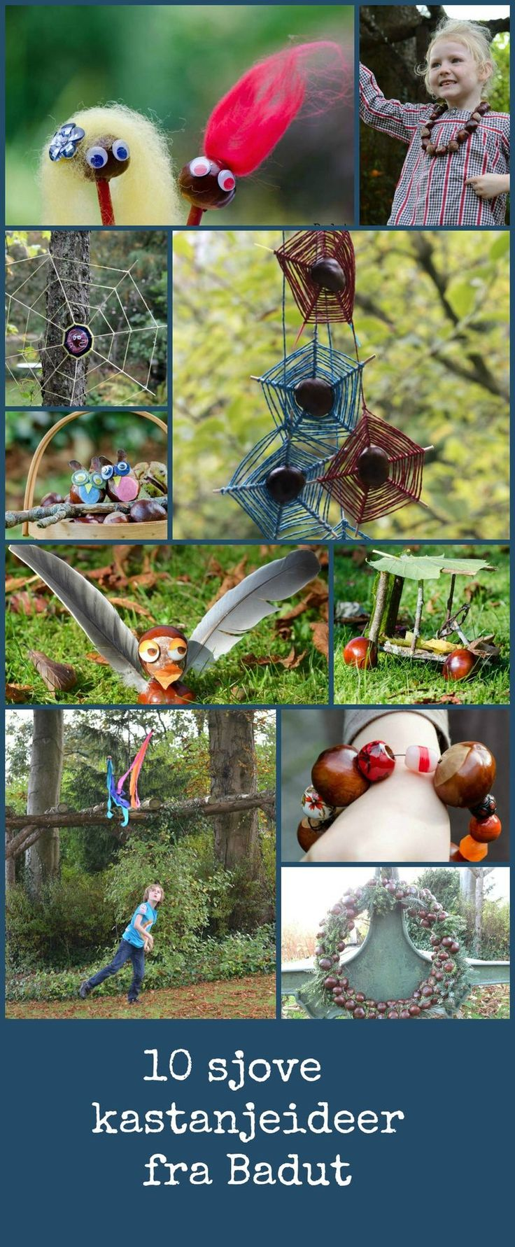 craft with chestnuts, wonderfull ideas unfortunately in danish