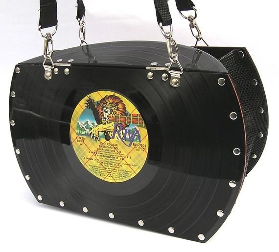 Vinyl Record Album Purse