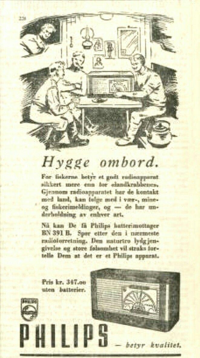 Dyr radio i 1949 Kr 347,-