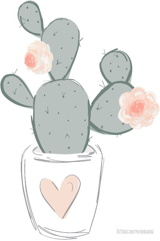 'Cute cactus' Sticker by ktscanvases | Cactus stickers ...