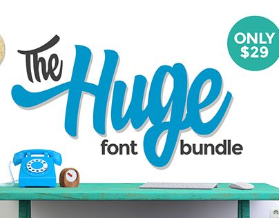 """Check out new work on my @Behance portfolio: """"The Huge Font Bundle - 66 Fonts for $29"""" http://on.be.net/1LgkRYR"""