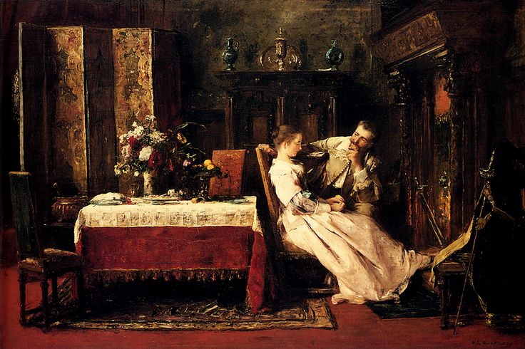 """Flitterwochen' (= Honeymoon) ~ by Mihály Munkácsy (1844-1900), a Hungarian painter, who worked in Paris."