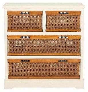 Virginia 4-Drawer Storage Unit, Ivory