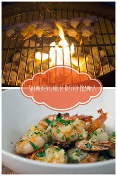 This recipe for garlic butter prawns features Australian Tiger Prawns soaked in garlic butter and seared over an open flame