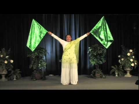▶ Worship Dance with Flag Instructions - YouTube~ the different twirls at the beginning are helpful