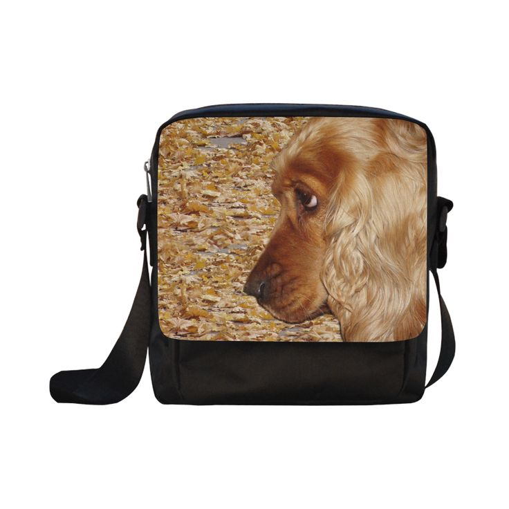 Dog Cocker Spaniel Crossbody Nylon Bags (Model 1633)