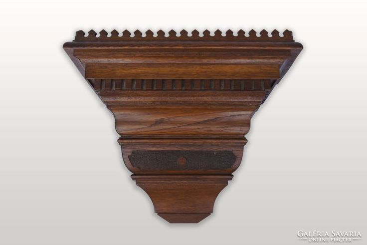 Antik fali óra- vagy szobortartó konzol
