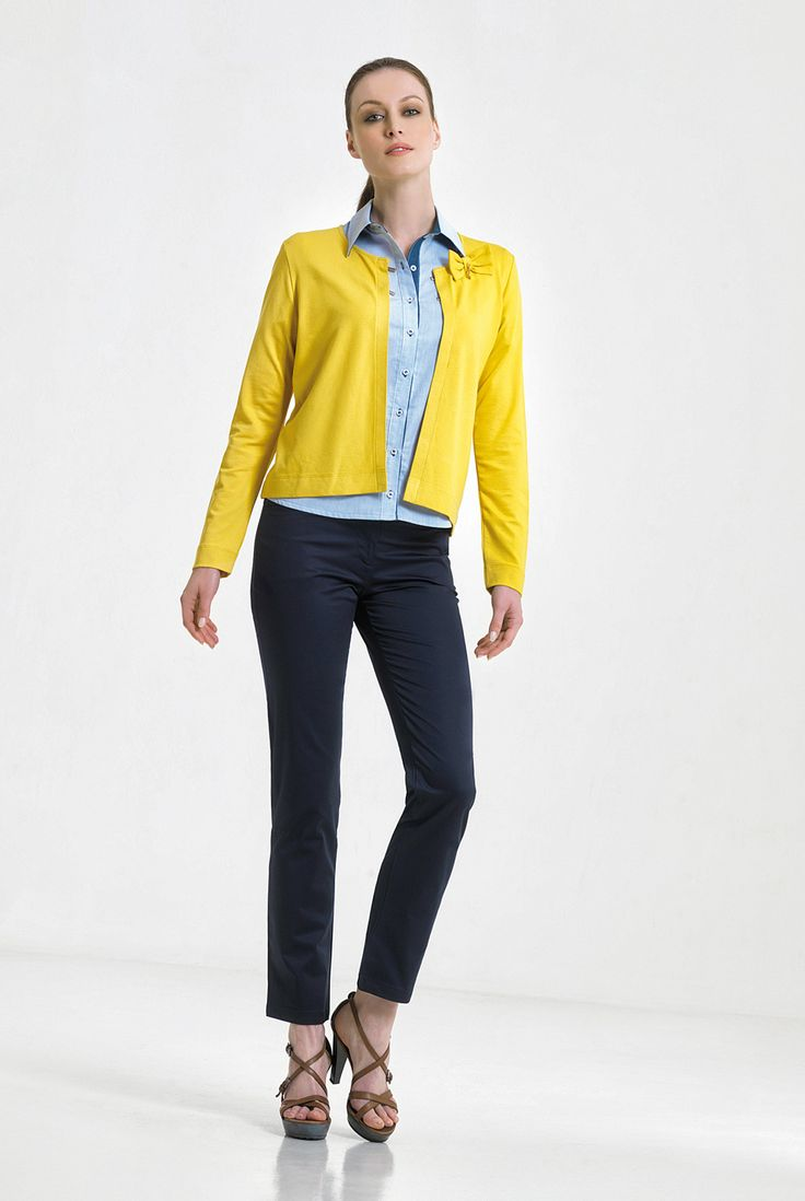 yellow and jean