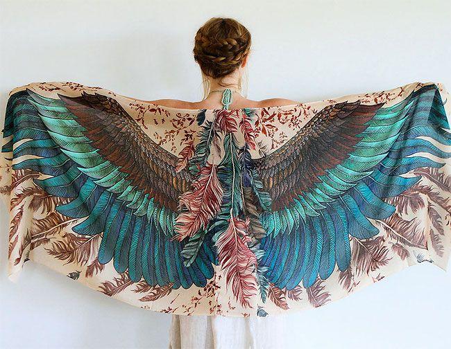 Beautiful Shovava Wing Scarves By Roza Khamitova