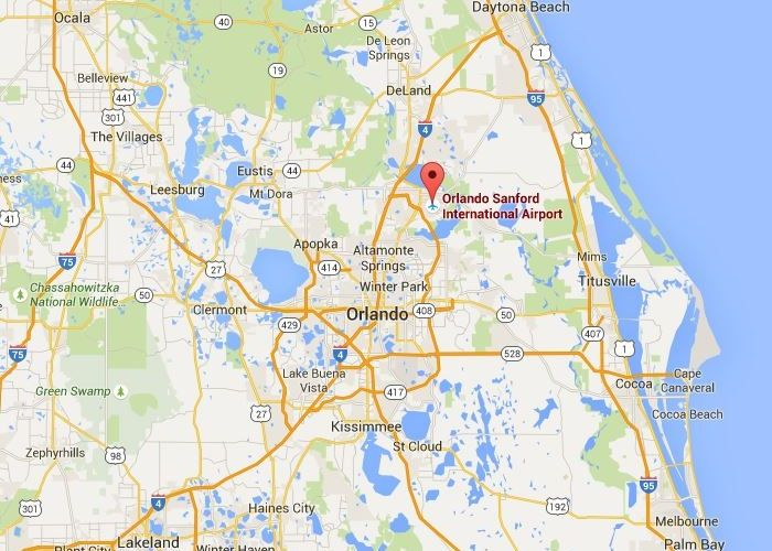 Map Of Sanford Florida.Florida Map Sanford Airport Verkuilenschaaij