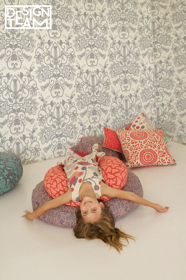 Add something fun and colourful to your childs bedroom. The wallpaper can be ordered in any of the new children fabric collection designs. #wallpaper #kidsdecor #playroom #rosequartz #interiorforkids #kidsroom #kidsstyle #interiordesign #kids #girls #inspiration #colorful #stylishkids #trending #decor #designteamfabrics
