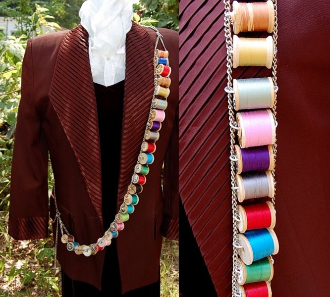 Mad Hatter's bandolier - The Steampunk Empire - I love the spools of thread!!