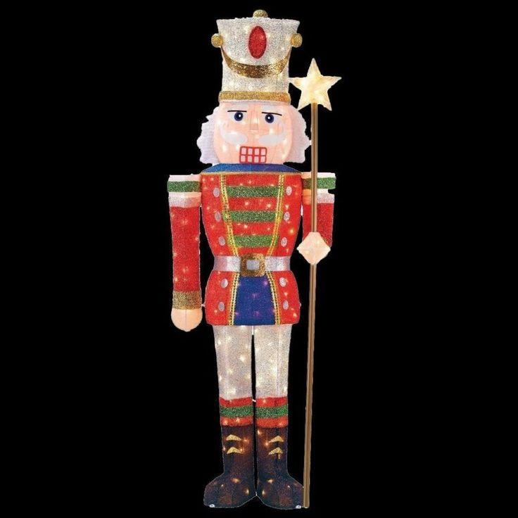 Pre-Lit Tinsel Nutcracker Soldier with 200 Mini Lights Christmas Yard Decor #NutcrackerSoldier #MiniLights #Christmas #YardDecor #ChristmasDecor #HomeAccents #ChristmasLights #HomeDecor #Holiday #HolidayDecor #Seasonal #shopping #HolidayAccents #Soldier #Lights