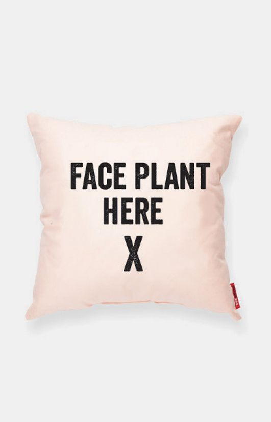 FACE PLANT HERE Peach Decorative Pillow. Can make this pretty easily. Just need to pick fabric to match our decor.