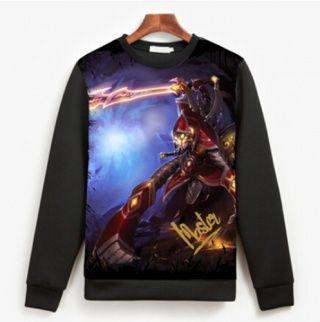 LOL Mestre Yi camisola para homens Ionia Mestre Yi camisolas XXXL pele