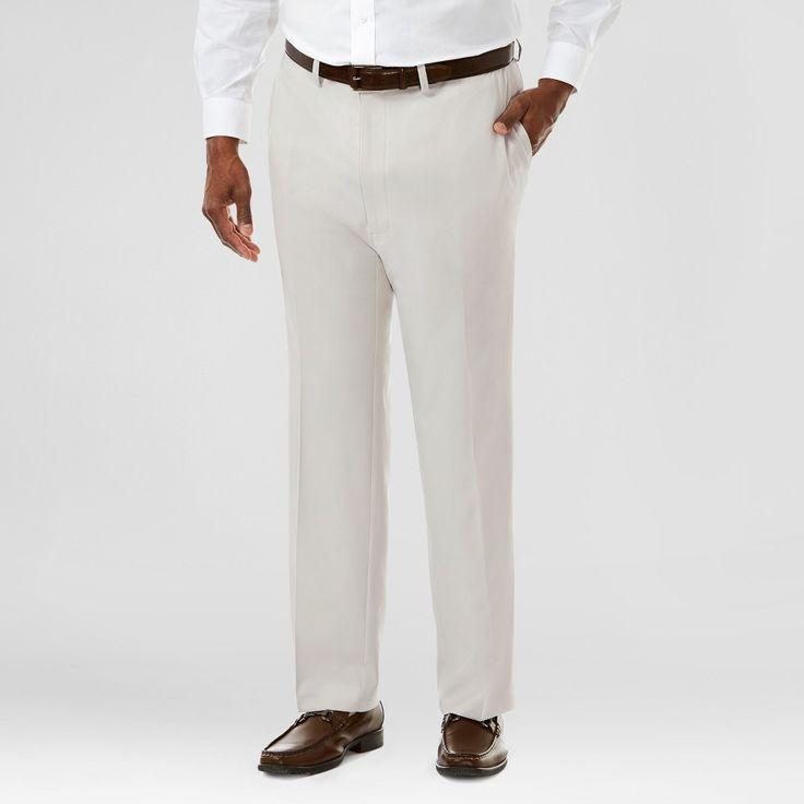 Haggar H26 Men's Haggar H26 Men's Big & Tall Performance Stretch Straight Fit Pants String 54x32